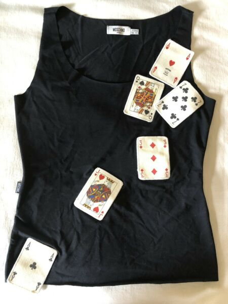Moschino Playing Cards Top $125.00