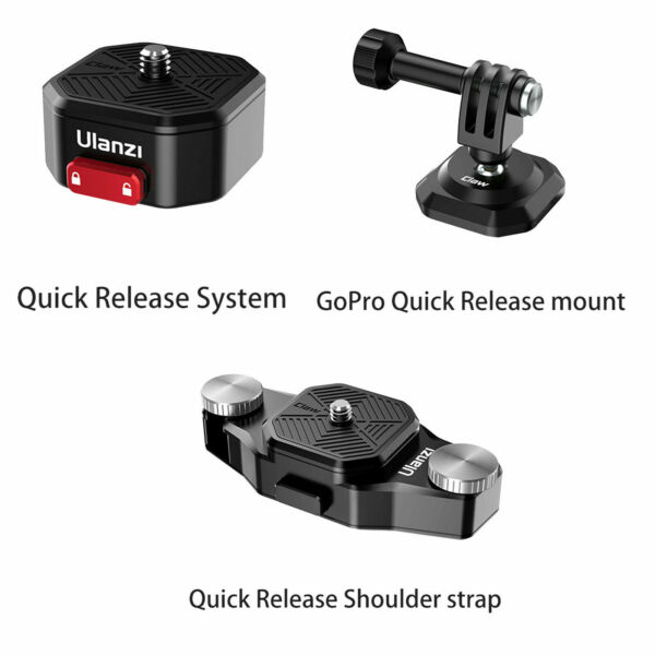 Ulanzi Tripod Adapter Quick Release Plate Strap Buckle for Gopro Hero 9 8 7 6 5
