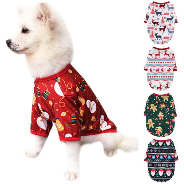 Pets Cute Dogs Puppy Christmas Santa Warmer Coat Clothes Winter Apparel Costume $7.31