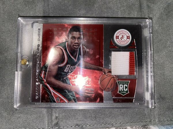 2013 Totally Certified Giannis Antetokounmpo Red Material RC Rookie ONLY 25 $1700.00