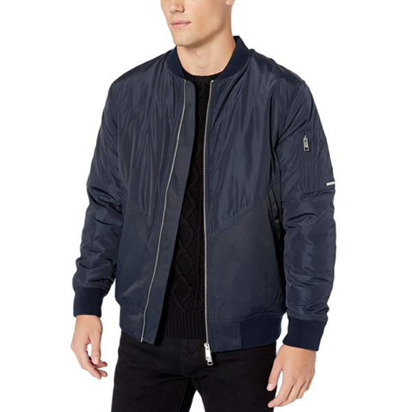 A X Armani Exchange Men#x27;s Zip Up Jacket with Side Pockets Navy M $99.99