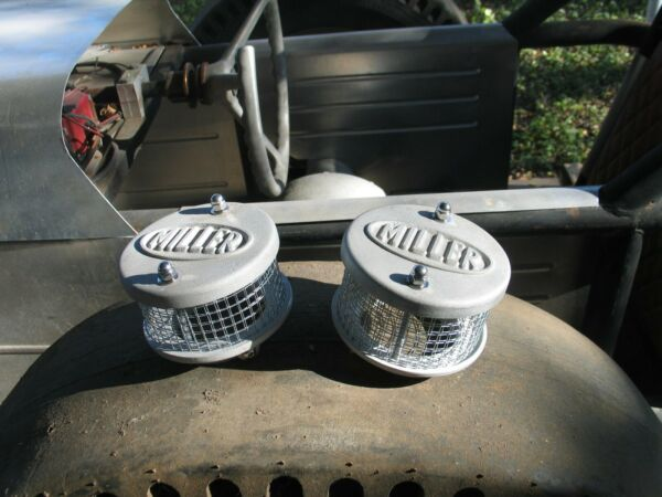 Two miller Air Cleaners Flathead Ford Mercury V8 Hot Rod Stromberg $75.00