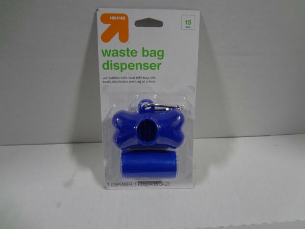 *NEW* Dog Waste Disposal Bags 1 Roll 15ct and Bag Dispenser Up amp; Up™ $8.49
