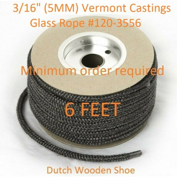 Wood Stove 3 16quot; Glass Gasket Sold Per Foot Part # 120 3556 Vermont Castings $1.55