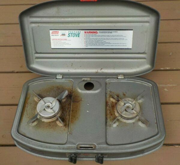 Coleman 2 Burner Ultralight Propane Stove MODEL #5426 700 Dated 1994 Made in USA $39.99