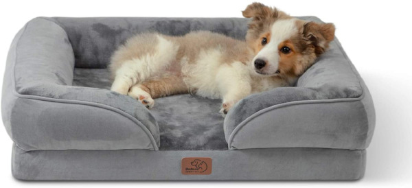 Bedsure Orthopedic Dog Bed Bolster Dog Beds for Medium Dogs Foam Sofa with Re $55.68