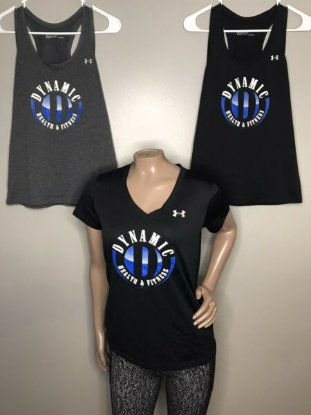 Women's Under Armour Lot Of 3 Heat Gear Tank Tops amp; Shirt Xs And Small Loose $16.99