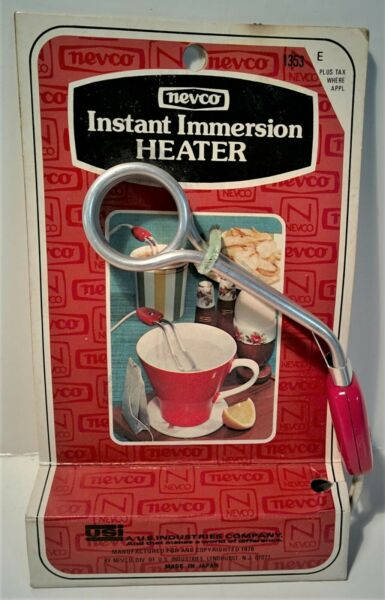 Vintage New Old Stock Nevco Instant Immersion Heater 1976 Coffee Cup Warmer 1353 $7.99