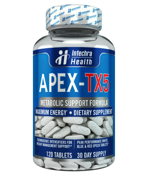 APEX TX5 Fat Burning Weight Loss Diet Pills That Work 120 White Blue Tablets