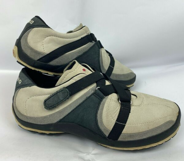 TSUBO Womens Shoes Size 8 Leather Walking Comfort Adjustable Strap Gray