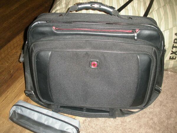 WENGER Swiss Army Laptop Gear Briefcase Case Carrying Messenger Bag BLACK $26.99