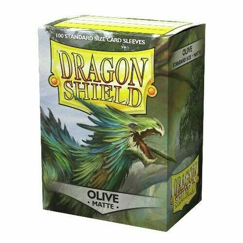 Matte Olive 100 ct Dragon Shield Sleeves Standard Size SHIPS FREE 10% OFF 2 $9.04