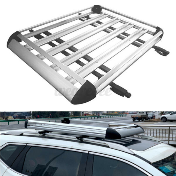 50quot;x38quot; Aluminium Car Roof Rack Basket Tray Luggage Cargo Carrier With Free Bars $110.19