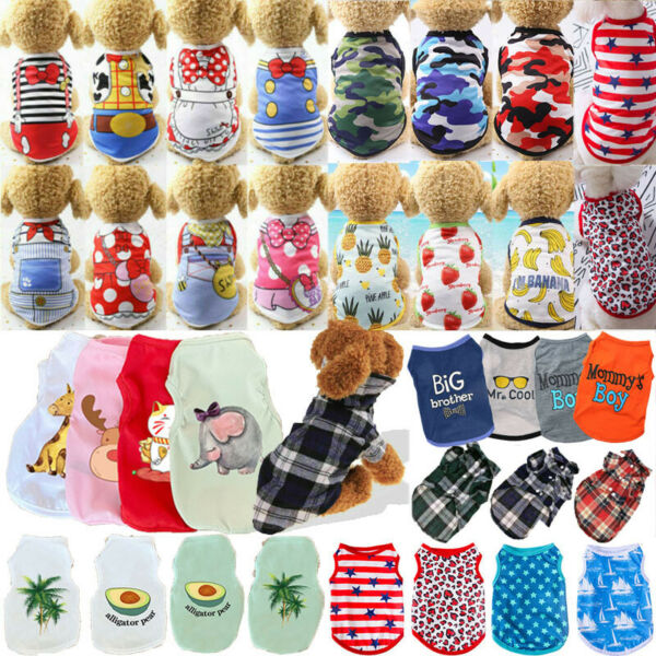 Cute Pet Dog Clothes Summer Puppy T Shirt Clothing For Small Dog Chihuahua Vest C $5.10