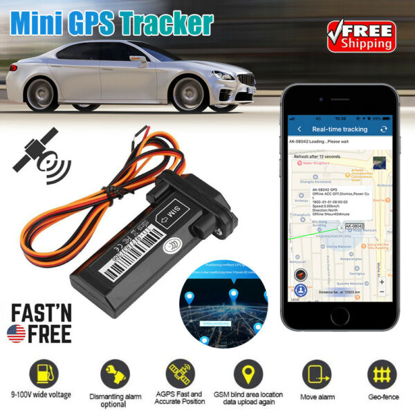 Car Vehicle Motorcycle GSM GPS Tracker Locator Global Real Time Tracking Device $18.88