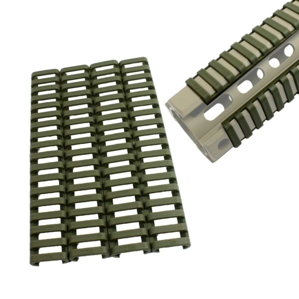 4 Heat Resistant Rifle Weaver Picatinny Ladder Rail Cover OD GREEN $3.99