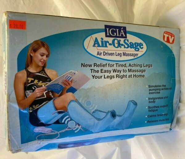IGIA Air O Sage Air Driven Leg Massager Relaxes Muscles As Seen on TV Blood Flow