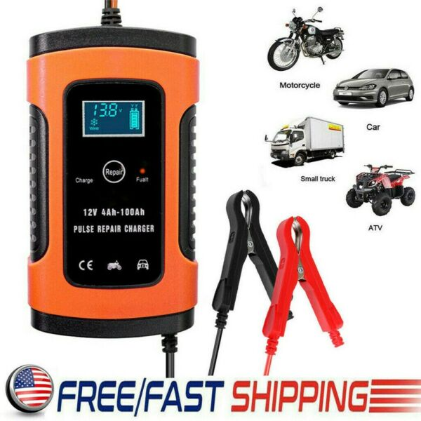 12V Car Battery Charger Maintainer Auto Trickle RV for Truck Motorcycle ATV US $19.79