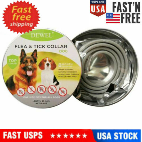 NEW Dewel Flea and Tick Control Collar for Large Dog 8 Month Protection Treatmen $9.99