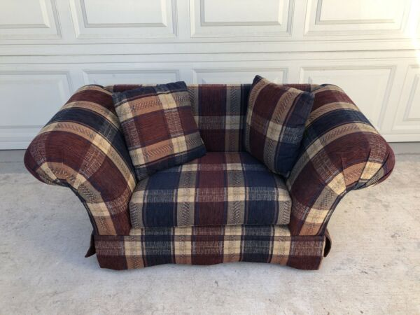 DOG Sofa Couch Plaid Country Style with Throw pillows Small Medium Dog $125.00
