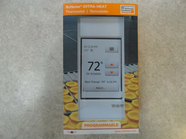 NEW Schluter Ditra Heat Touchscreen Floor Heating Thermostat White DHERT102 BW $139.95