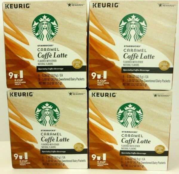 Starbucks Caramel Caffe Latte 2 Step K Cups 36 count BB 5 26 2020 Free Shipping