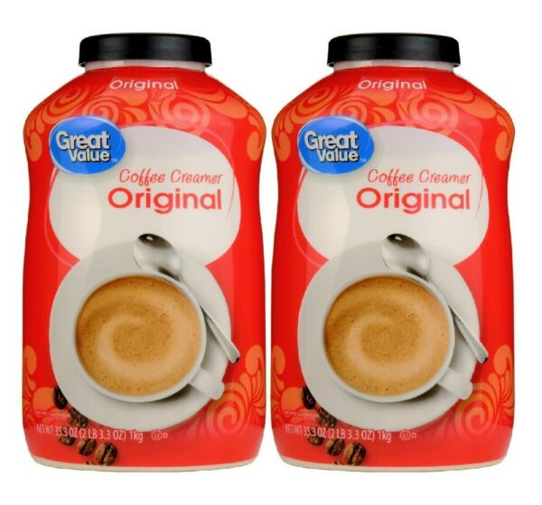 Great Value Original Powder Coffee Creamer 35.3 oz Canister 2 Pack