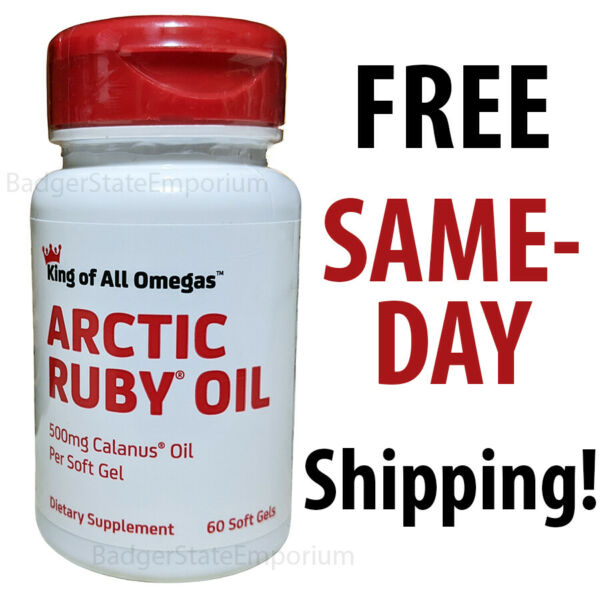 Arctic Ruby Oil 60 Soft Gels 500mg Calanus Oil Each Exp 05 24 King of All Omegas $34.39