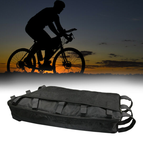 Electric Bike Trapezoid Bag Bicycle Rear Ebike Case 18650 Battery Pack Storage $32.89