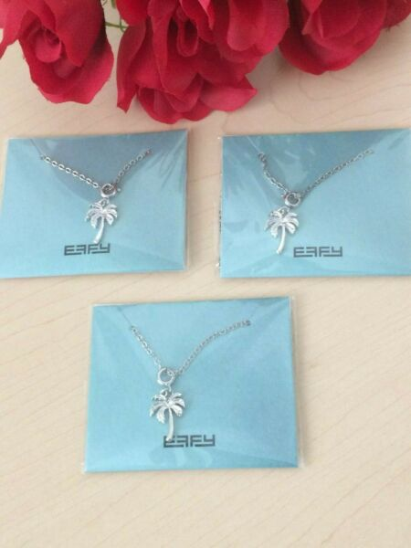 LOT OF 3 EFFY PALM TREE NECKLACES FASHION JEWELRY 18quot; CHAIN NEW SEALED PACKETS