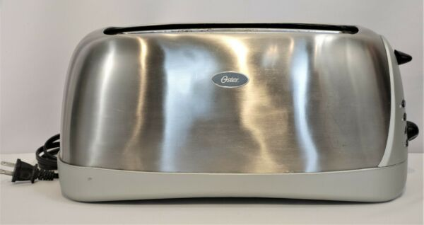 Oster Sunbeam Long Slot 4 Slice Toaster Stainless Steel 6330 Tested A1