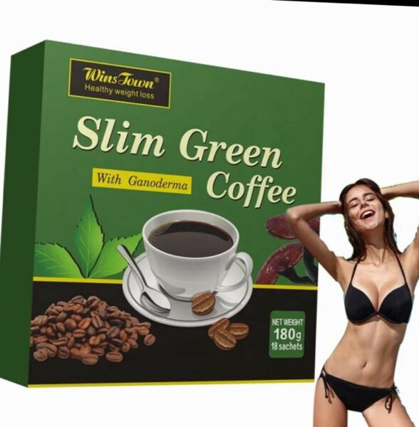 SLIM GREEN COFFEE With Ganoderma. Shipped From USA. HEALTHY WEIGHT LOSS.
