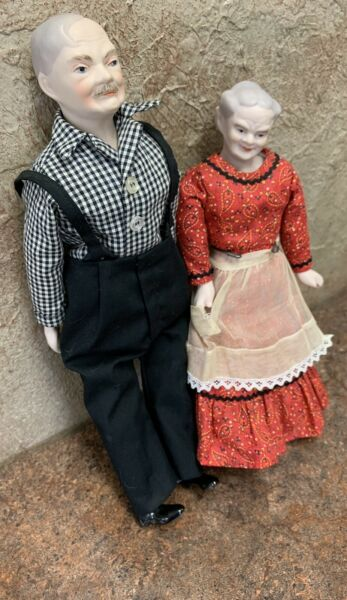 Magge Head 1962 porcelain Dolls Ma And Papa