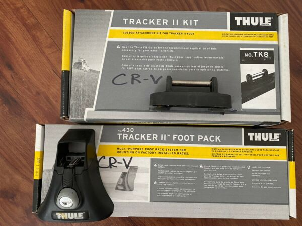 Thule II Kit No. TK8 amp; Foot Pack No. 430 Complete CRV for Square Bar CR V Roof $189.00