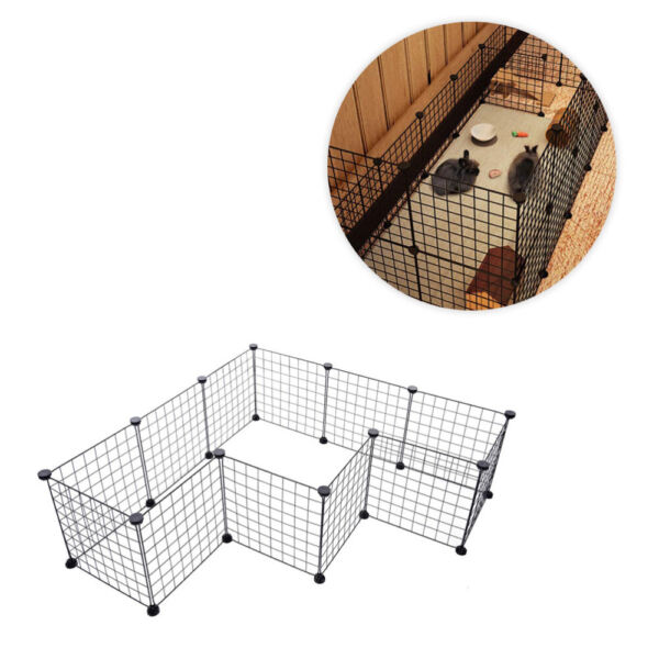 12 Panel Metal Tall Dog Playpen Large Crate Fence Pet Cat Exercise Cage US