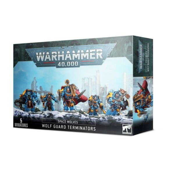 Warhammer 40k Space Wolves Wolf Guard Terminators **New in Box**