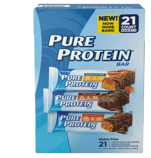 Pure Protein High Protein Bars Variety Pack 21 ct.