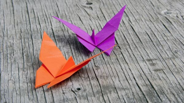 Origami Butterfly Handmade from paper
