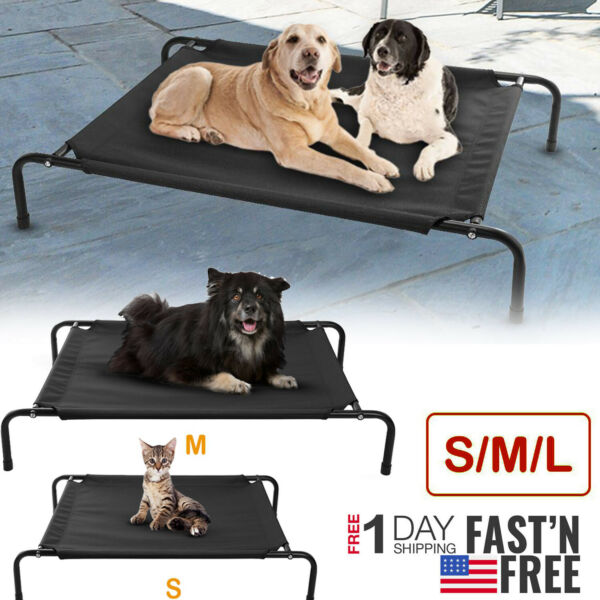 Elevated Dog Bed Lounger Sleep Pet Cat Raised Camping Cot Hammock Indoor Outdoor $21.49