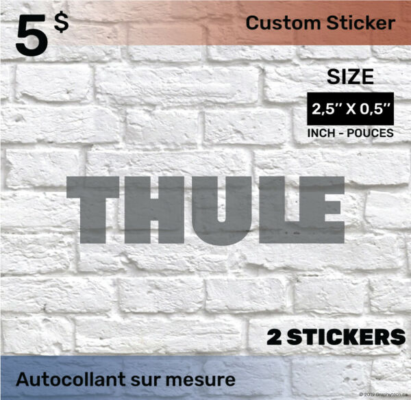 05 by 25 inch Sticker Decal Compatible THULE 2x black C $5.00