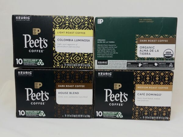 40 count Peet#x27;s Coffee Variety Keurig K Cup Pods House See Photos Exp 5 23 2021