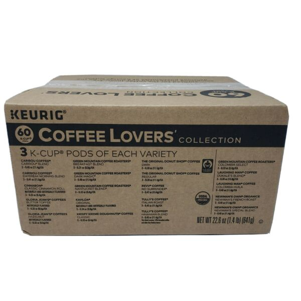 60 Count Keurig K Cup Coffee Lovers#x27; Variety Collection Pods. BB 8 29 2021