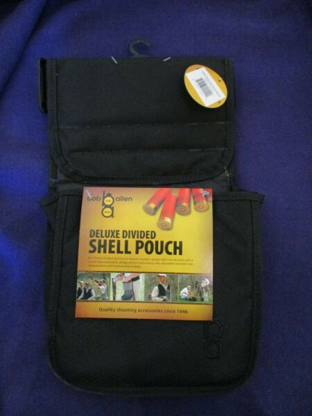 Bob Allen Deluxe Divided Shell Pouch with Belt Black New 22117 $17.99