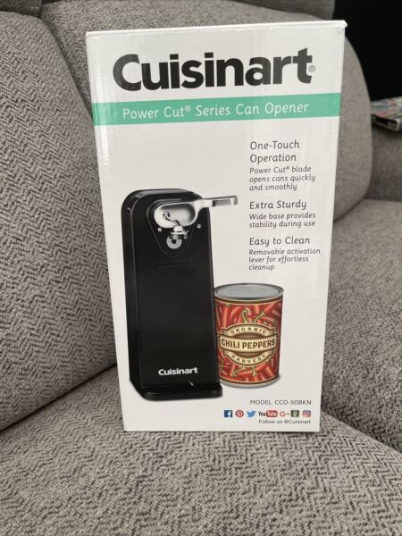Cuisinart Deluxe Electric Can Opener Black CCO 50BKN New Free Shipping