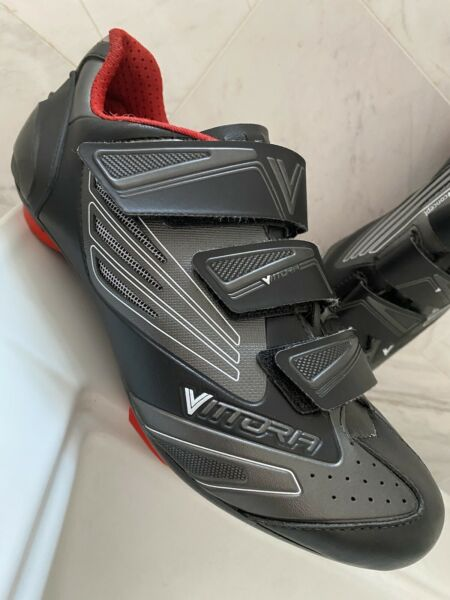 Vittoria V Flash Fluo Road men's Cycling Shoes USA 8 EU 41 3 Bolt with Cleats $35.00
