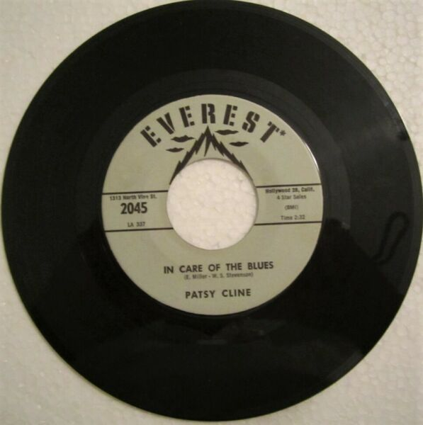 PATSY CLINE 45rpm COUNTRY BOPPER IN CARE OF THE BLUES on EVEREST