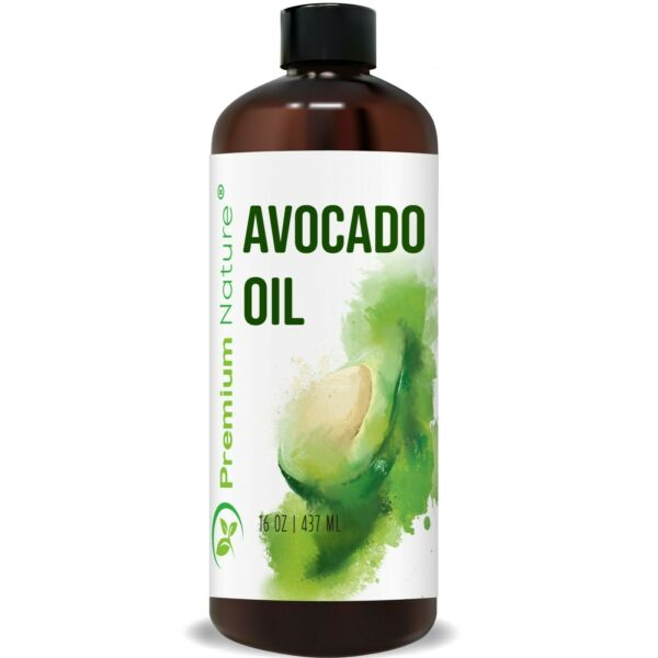 Avocado Oil Cold Pressed 100% Pure Natural For Skin Body Hair and Massage 16OZ $11.99