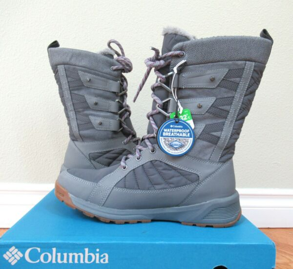 COLUMBIA Womens 8.5 MEADOWS OMNI HEAT 3D INSULATED SNOW WINTER BOOTS NEW IN BOX $89.68