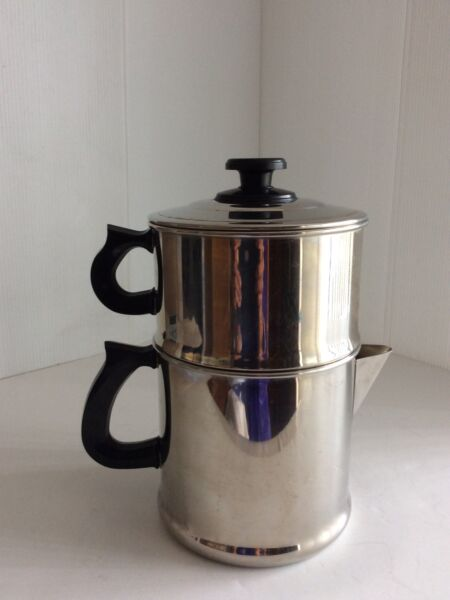 VINTAGE LIFETIME STAINLESS STEEL DRIP STOVE TOP COFFEE POT 10 Cup