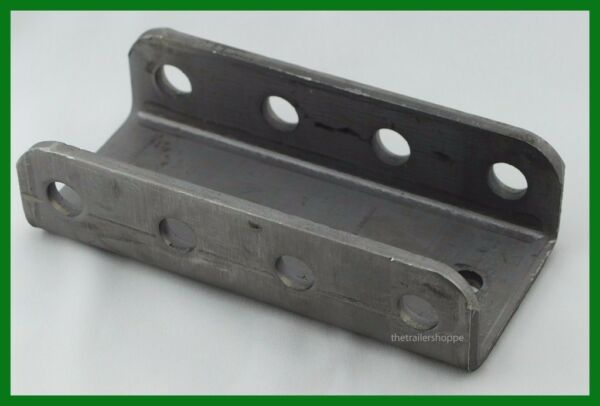 Adjustable Trailer 4 Hole Channel Bracket for Couplers Raw Steel 14000 Capacity $28.95